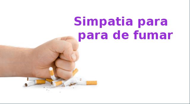 simpatia para largar o cigarro
