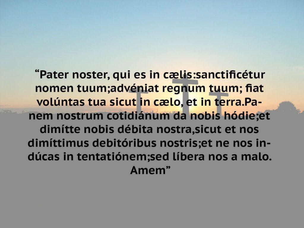 oracao pai nosso latim para imprimir