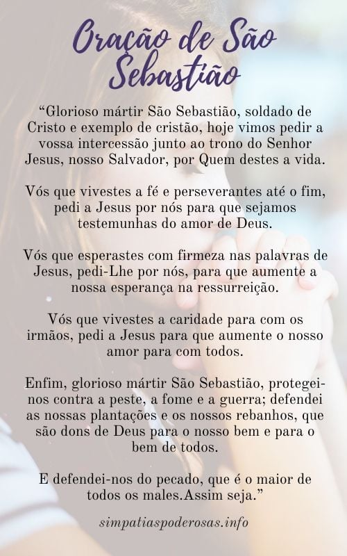 oração de São Sebastião