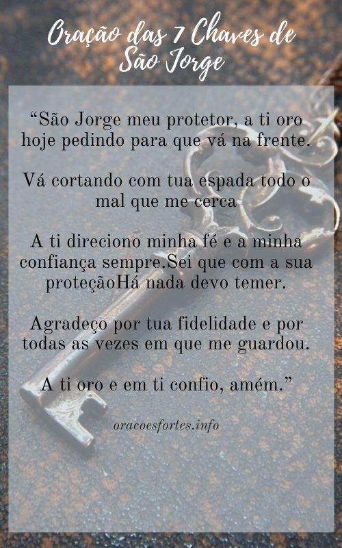 Oração das 7 Chaves de São Jorge