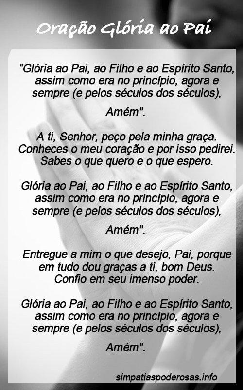 Oração Glória ao Pai