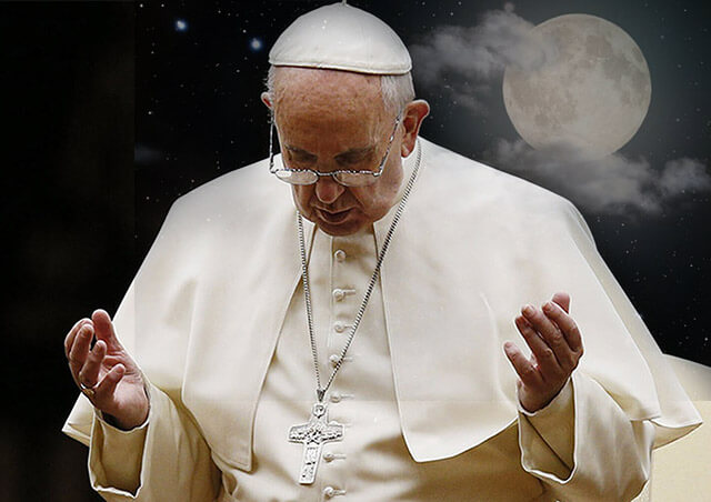 Oração da noite que o Papa Francisco reza